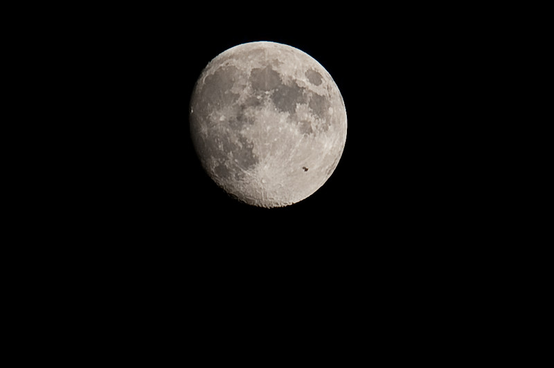 SEP 09, 2011. LOOK AT THE RIGHT LOWER PART OF THE MOON. YOU CAN SEE AN OBJECT CASTING A SHADOW ON THE FACE OF THE MOON (I THINK IT'S A SPACE STATION). PHOTOS ARE TAKEN FEW SECONDS APART. MY COORDINATES WERE N 37deg 30.24min and E 14deg 57.83min.