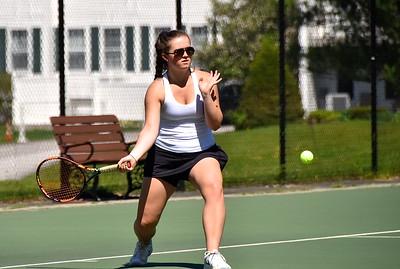 BBA Girls Varsity Tennis Playdown vs Bellows Falls photos by Gary Baker