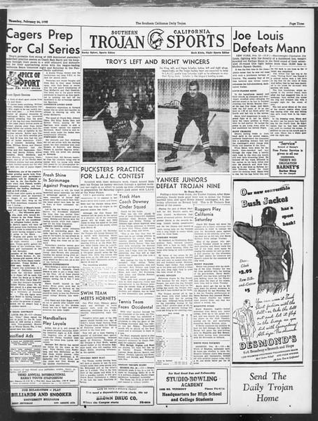 Daily Trojan, Vol. 29, No. 86, February 24, 1938