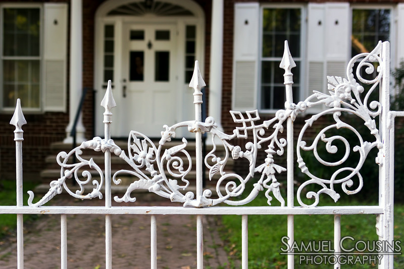 An interesting iron fence on the West End.