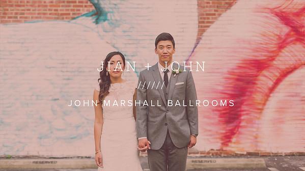 JIAN + JOHN ////// JOHN MARSHALL BALLROOMS