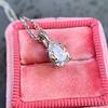 1.11ct Pear Shape Diamond Pendant GIA E VVS2 1