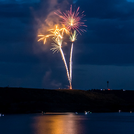 Lake Meredith Fireworks 2016