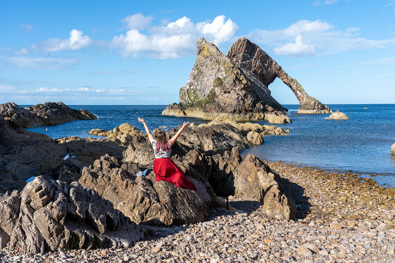 Amanda at Bow Fiddle Rock