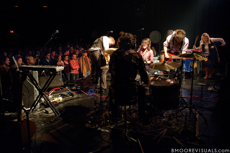 Mike Mage, Kenny Werner, Sean Curran, Josh Luker, and Melissa Mage of Bellarive perform on March 18, 2010 at The Plaza Theatre in Orlando, Florida