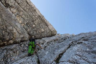 06 08 Rock climbing in Zapotoski vrh