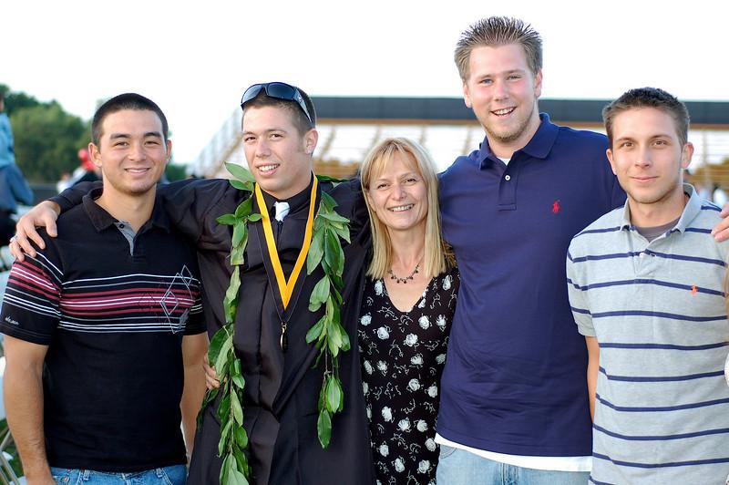 Dean, Roman, Mom, Matt and Joanthan
