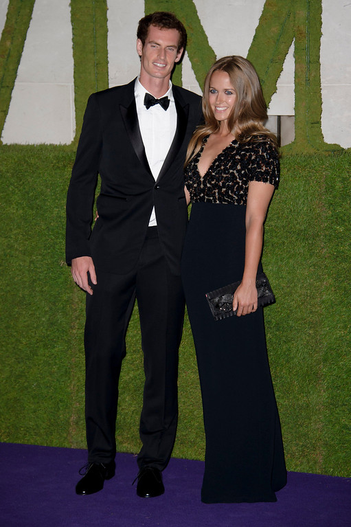 . British tennis player and winner of Wimbledon 2013 Andy Murray and his partner Kim Sears arrive for the Wimbledon Champions Dinner 2013, in London, Sunday, July 7, 2013. (Photo by Jonathan Short/Invision/AP)