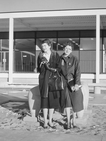 Marian and Dorothy at AFA Post Exchange, Nov 1958