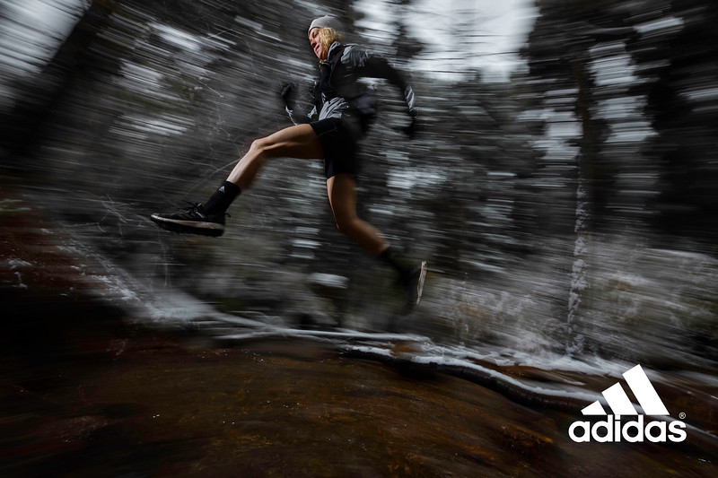 Abbey Mitchell trail running on Flagstaff Mountain, Colorado