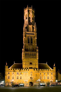 Belfry and Cloth Hall, Bruges, Belgium - Copyright © 2009 NSL Photography. All Rights Reserved.
