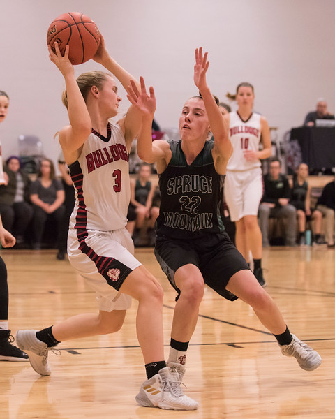 2019 Varsity Girls Basketball:  Hall-Dale vs Spruce Mtn