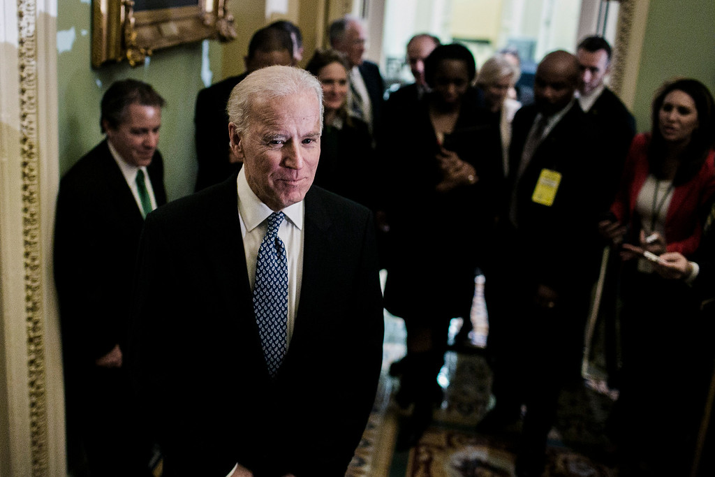 . Vice President Joe Biden after a closed-door meeting with Senate Democrats, in Washington, Dec. 31, 2012. Democratic leaders signed off on the agreement on Monday, but the measure was not going to pass in time for Congress to meet its Dec. 31 deadline to avert automatic tax increases and spending cuts. (T.J. Kirkpatrick/The New York Times)