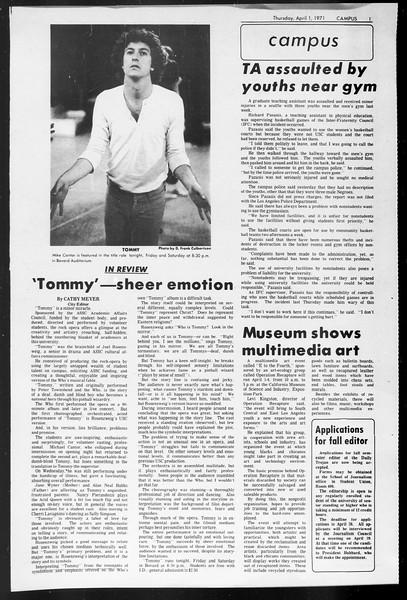 Daily Trojan, Vol. 62, No. 101, April 01, 1971