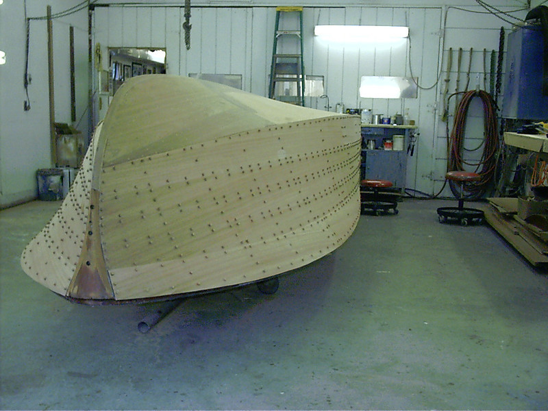 Starboard side ruff sanded and plugged.