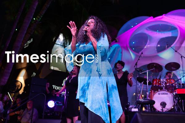 Singer Gloria Gaynor in Miami Design District Miami