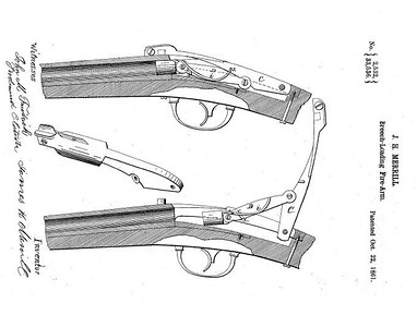33,536 - Improvement in Breech-Loading Firearms, assigned to the Merrill Patent Firearms Mfg Co (October 22, 1861)