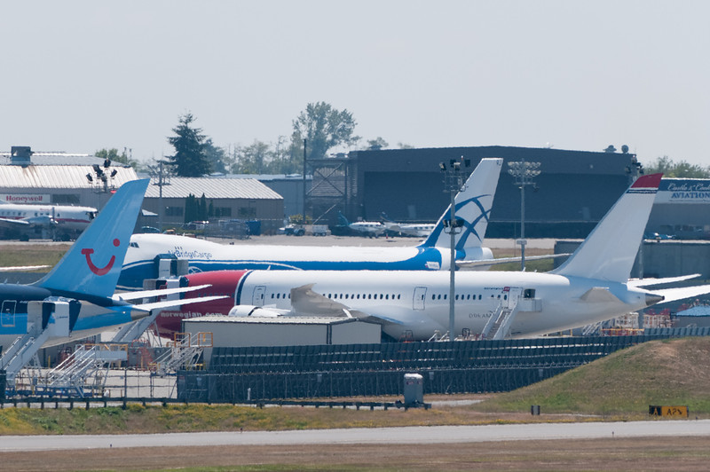 Dieser Dreamliner wird bald an Norwegian ausgeliefert. Eigentlich hätten wir mit dem nach New York fliegen sollen.