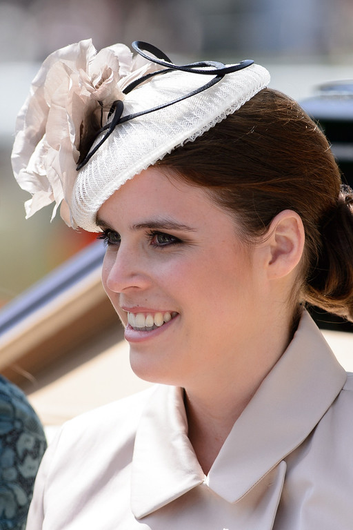 . Britain\'s Princess Eugenie of York arrives into the Parade Ring on the first day of the Royal Ascot horse racing meet, in Berkshire, west of London, on June 17, 2014.  AFP PHOTO / LEON NEAL/AFP/Getty Images