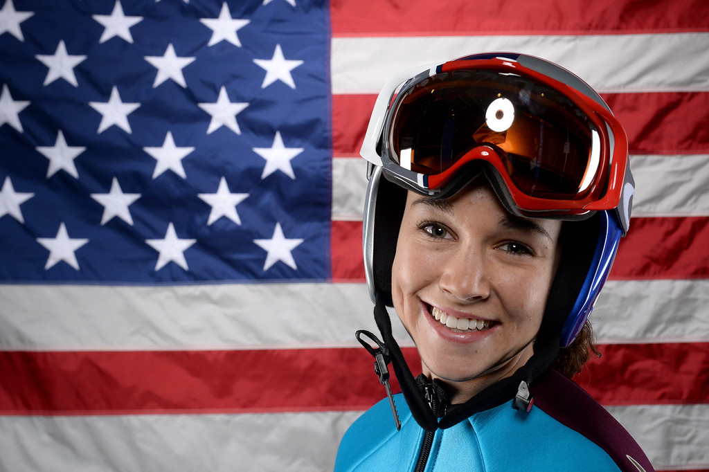 . Ski Jumper Sarah Hendrickson poses for a portrait during the USOC Media Summit ahead of the Sochi 2014 Winter Olympics on October 1, 2013 in Park City, Utah.  (Photo by Harry How/Getty Images)