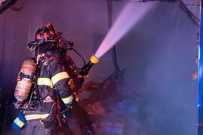 East Fremont Ave. Garage Fire