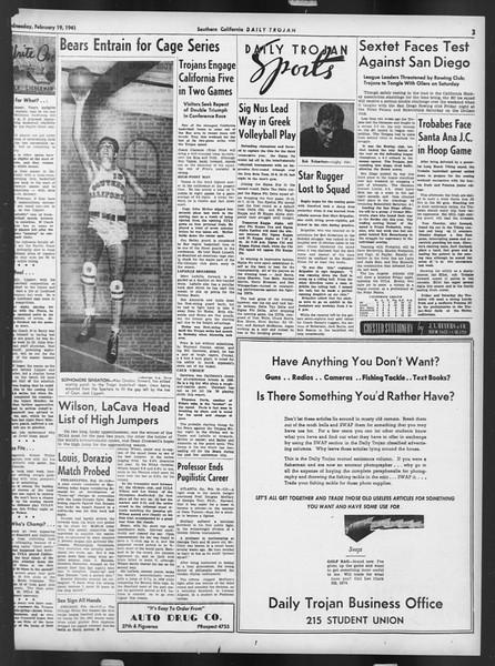 Daily Trojan, Vol. 32, No. 84, February 19, 1941
