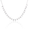 2.93ctw Mixed Step Cut Diamonds-by-the-yard Necklace 0