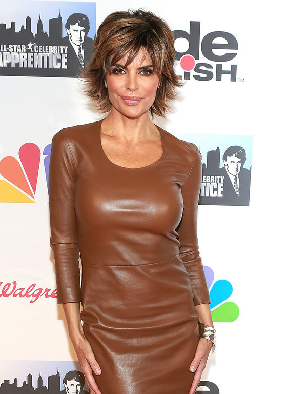 """. Lisa Rinna attends \""""All Star Celebrity Apprentice\"""" Finale at Cipriani 42nd Street on May 19, 2013 in New York City.  (Photo by Robin Marchant/Getty Images)"""