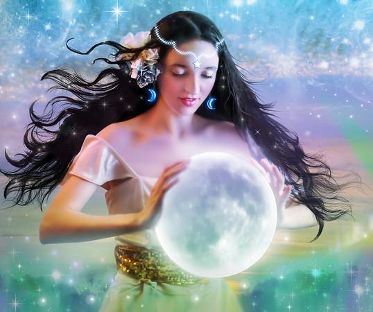 Celestial Moon Goddess, Mythical and Modern Goddesses Photographic Art