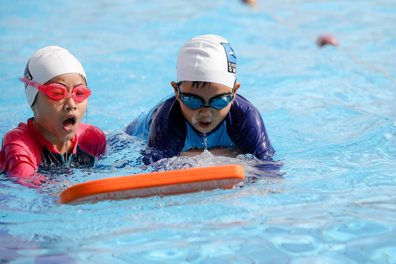 Kids enojying in the pool during Active Health Lab Launch, taken on 4th Feb 2018 at Heartbeat@Bedok, Singapore. Photo by Sanketa Anand/SportSG