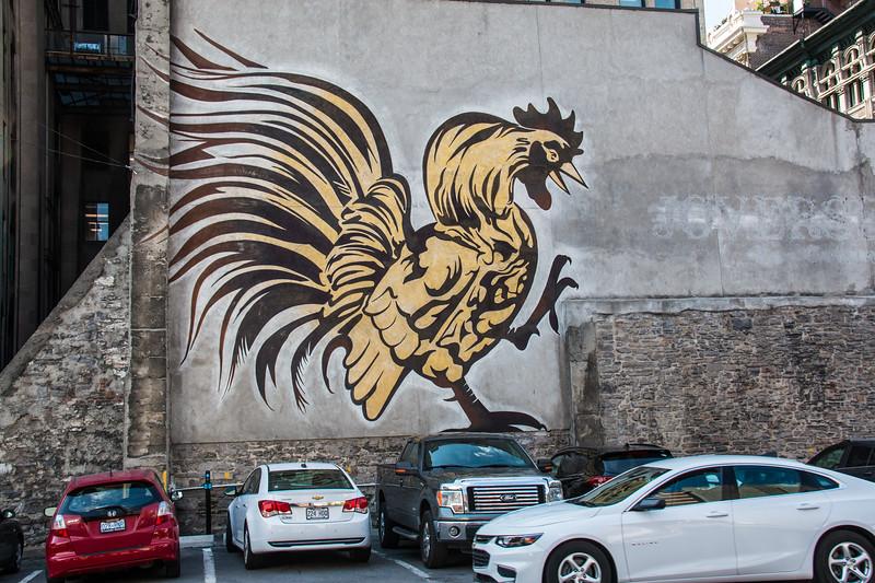 Street art, off Notre-Dame Street