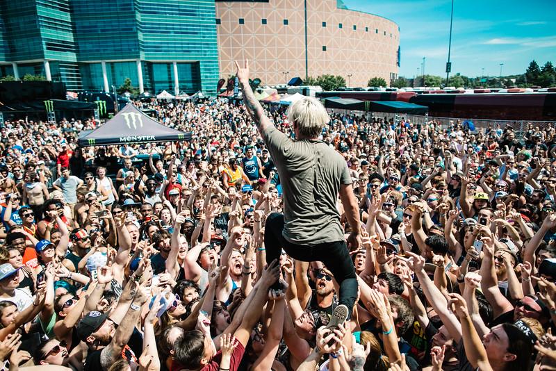 The Word Alive in Pontiac, MI on Vans Warped Tour 2016