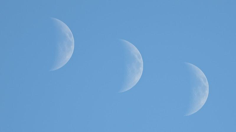 Daytime crescent