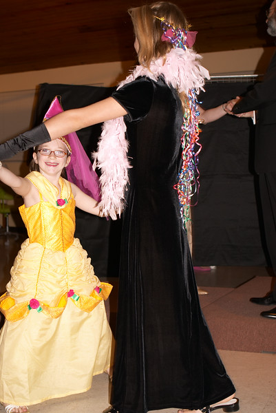 The stepsisters dance