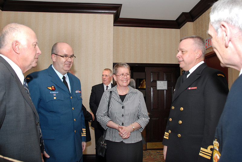 Col. Pratt (Past Director at DCdts) with Mrs Pratt and LCmdr R. Vaillancourt