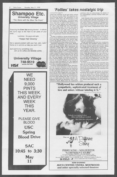 Daily Trojan, Vol. 73, No. 58, May 11, 1978