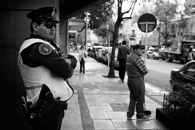 Argentinian policeman in Buenos Aires