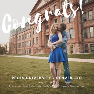 Graduation Photos at Regis University in Denver, CO
