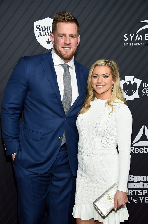 . Sportsperson of the Year co-honoree J.J. Watt and Kealia Ohai attend the Sports Illustrated 2017 Sportsperson of the Year Awards at Barclays Center on Tuesday, Dec. 5, 2017, in New York. (Photo by Evan Agostini/Invision/AP)