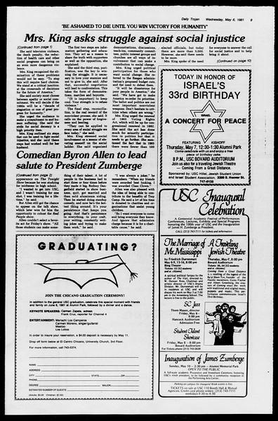 Daily Trojan, Vol. 90, No. 57, May 07, 1981