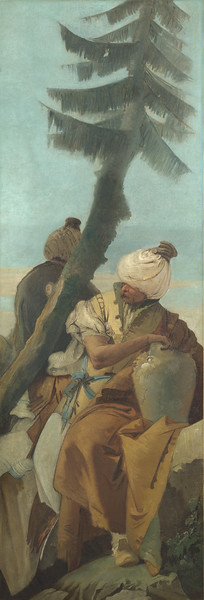 Two Orientals seated under a Tree