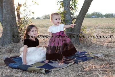 Kaelin and Madeline at the farm
