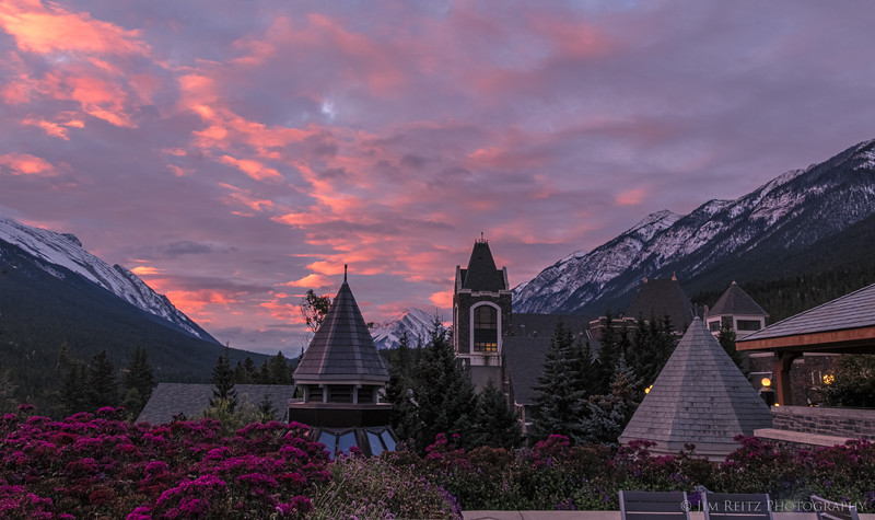 Sunrise view from Banff Springs Hotel