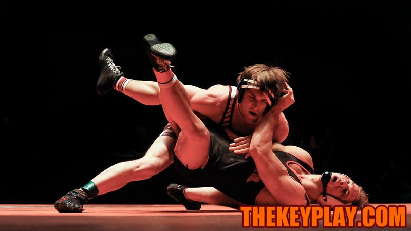 (165) Chad Strube defeats NC State's Max Rohskopf in a major decision. (Mark Umansky/TheKeyPlay.com)