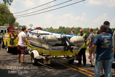 08-02-2012, Water Rescue. Vineland City, Cumberland County, W. Weymouth Rd. Maurice River