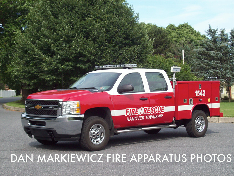 HANOVER TOWNSHIP VOLUNTEER FIRE CO. UNIT 1542 2013 CHEVY/READING UTILITY