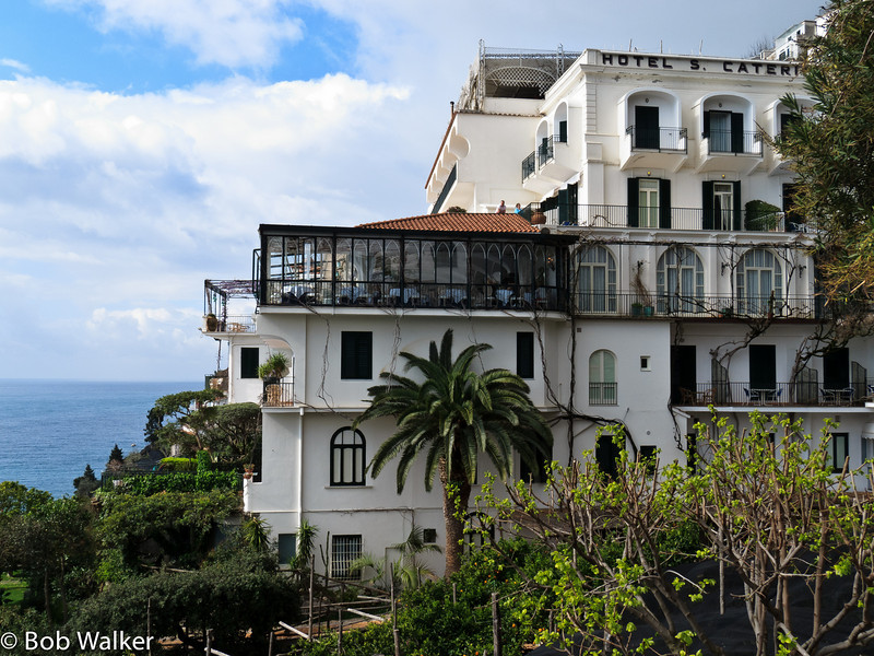 View of our hotel, Hotel Santa Caterina. Great place and location!