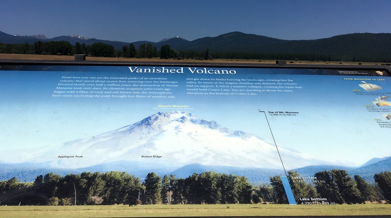 What Mt Mazama would look like if it was still there