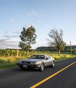 Wells Auto DeLorean Filming
