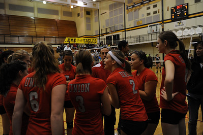 <center><br>Lady Titan Volleyball <br>Union at Hudson's Bay <br>Oct 6, 2009</center>